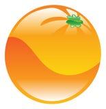 Illustratie van oranje fruitpictogram clipart Stock Afbeelding