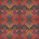 Illustratie van oranje, gele en roze punten en cirkels op grijze achtergrond vector illustratie