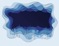 Illustratie van overzeese bodem met zeewier Royalty-vrije Stock Afbeelding