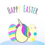 Illustratie van paaseieren, ` gelukkige Pasen ` Stock Afbeelding