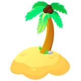 Illustratie van palm binnen Royalty-vrije Stock Afbeeldingen