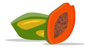 Illustratie van papaja Stock Fotografie