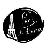 Illustratie van Parijs, de Toren van Eiffel Royalty-vrije Stock Afbeelding