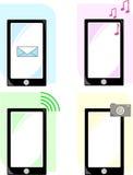 Illustratie van pictogrammentelefoon vector illustratie