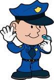 Illustratie van politieagent Stock Foto's