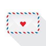 Illustratie van postenveloppen die op wit wordt geïsoleerd Royalty-vrije Stock Afbeelding