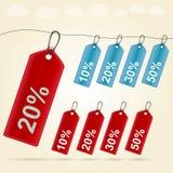 Illustratie van prijskaartjes Stock Afbeeldingen