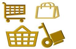 Illustratie van punten voor het winkelen worden gebruikt die stock illustratie