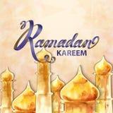 Illustratie van Ramadan kareem en Ramadane Mubarak royalty-vrije illustratie