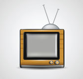 Illustratie van realistische houten TV Royalty-vrije Stock Afbeelding