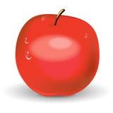 Illustratie van rode appel Royalty-vrije Stock Afbeeldingen
