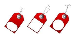 Illustratie van rode verkoopmarkeringen Stock Illustratie