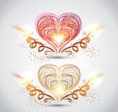 Illustratie van rood hart voor valentijnskaartdag Royalty-vrije Stock Fotografie