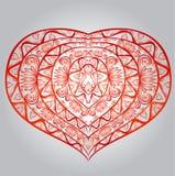 Illustratie van rood hart voor valentijnskaartdag Stock Fotografie