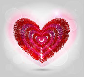 Illustratie van rood hart voor valentijnskaartdag Stock Foto