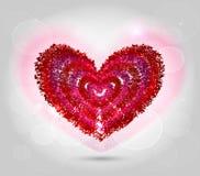 Illustratie van rood hart voor valentijnskaartdag Royalty-vrije Stock Foto's