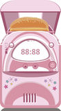 Illustratie van roze broodmaker Royalty-vrije Stock Afbeeldingen