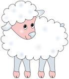 Illustratie van schapen. Stock Afbeeldingen