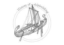 Illustratie van scheepsbouw Royalty-vrije Stock Afbeeldingen