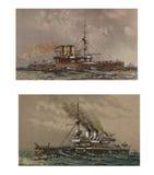 Illustratie van schepen 19-18 eeuw Royalty-vrije Stock Afbeeldingen
