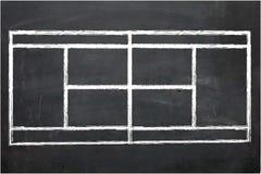 Illustratie van Schoolbord met tekening vector illustratie