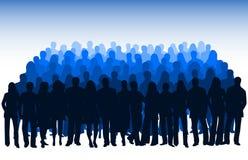 Illustratie van silhouetten Royalty-vrije Stock Fotografie
