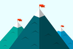 Illustratie van silhouetten van bergen Stock Afbeeldingen