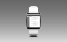 Illustratie van slim horloge met codage op het scherm royalty-vrije illustratie
