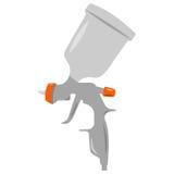 Illustratie van sray kanon, een witte achtergrond Stock Afbeeldingen
