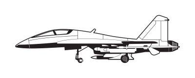 Illustratie van straalvechter Stock Afbeeldingen
