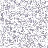 Illustratie van suikergoedreeks stock illustratie