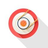 Illustratie van sushi en eetstokjes Stock Afbeelding