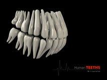 Illustratie van Teeths, geneeskunde en het element van het gezondheidsconceptontwerp Stock Afbeeldingen
