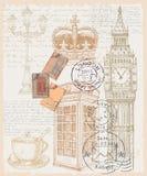 Illustratie van telefoon Groot-Brittannië Stock Afbeelding