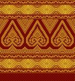 Illustratie van textiel etnisch ornament vector illustratie