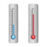 Illustratie van thermometers Royalty-vrije Stock Foto
