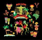 Illustratie van traditioneel Braziliaans Carnaval royalty-vrije illustratie