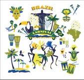 Illustratie van traditioneel Braziliaans Carnaval stock illustratie