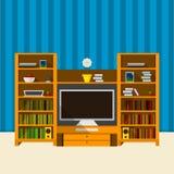 Illustratie van TV-ruimte Royalty-vrije Stock Foto's