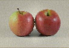 Illustratie van twee rode appelen royalty-vrije stock fotografie