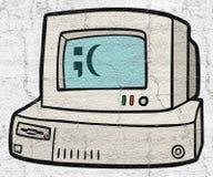Illustratie van uitstekende computer royalty-vrije illustratie
