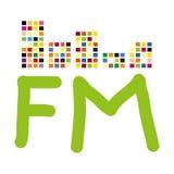 Illustratie van uitzendingsradio met equaliser Stock Afbeelding