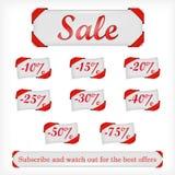 Illustratie van verkoopaanbiedingen Stock Fotografie