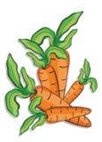 Illustratie van verse wortelen Stock Afbeelding