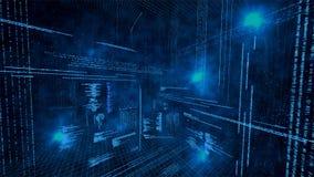 Illustratie van virtuele gegevens Stock Afbeelding