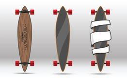 Illustratie van vlakke longboards Royalty-vrije Stock Afbeelding