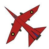 Illustratie van vliegtuig Stock Afbeeldingen