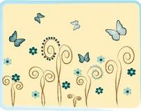 Illustratie van vlinders. royalty-vrije illustratie