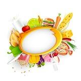 De Achtergrond van het voedsel Stock Afbeeldingen