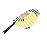 Illustratie van vogel de Inheemse patronen Royalty-vrije Stock Foto's
